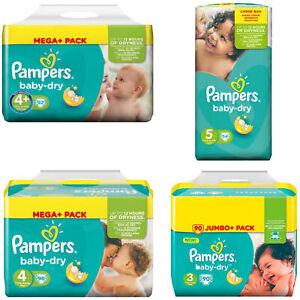 Pampers Baby-Dry Windeln Größe 3-4-4+-5 Monatsbox Spar Box