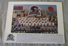 Original CFL Montreal Alouettes 1998 Official Team Photo