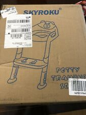 Potty Training Seat with Step Stool Ladder,SKYROKU Potty Training Toilet Blue
