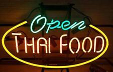 "Thai Food Open Neon Light Sign 24""x20"" Beer Bar Decor Lamp Glass"