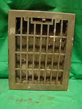 Vintage 1920S Iron Heating Grate Rectangular Design 13.75 X 10.75 A