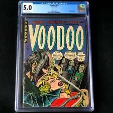 VOODOO #13 (Farrell 1954) 💥 CGC 5.0 💥 Ghoul Measures Blonde For Coffin! Comic
