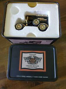 Harley-Davidson 1913 Ford Model T Delivery Truck/Van Die-Cast Dime Bank