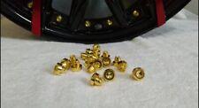 20 x 24k Gold Plastic Wheel Rivets Nuts Rim Lip Replacement Alloys Studs J2