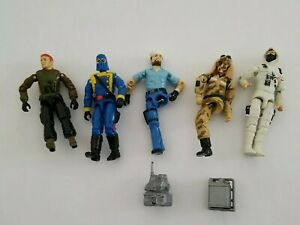 Vintage 1980/90 Hasbro GI Joe 5 Figures SOME FOR PARTS ONLY READ SEE VIDEO