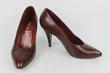 VINTAGE Escarpins FRANCE ARNO Cuir Bordeaux T 38 TBE