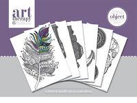 Art Therapy Poster Objekte zum Ausmalen - Mandala Anti Stress Ausmalbilder NEU