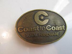 Coast To coast Stores Total Hardware Brass Belt Buckle