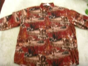 NORTH RIVER OUTFITTER'S men's long sleeved shirt, XXL, outdoor nature theme,nice