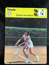 MARTINA NAVRATILOVA 1978 Sportscaster Card #34-21 TENNIS