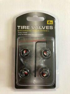 Universal Lockable/Anti Theft Wheel Valve Stem Cap Set For Toyota/TRD Chrome
