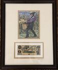 "JOHN W JONES  ""Color of Money"" Collection Slaves SIGNED Matted Framed RARE #1"