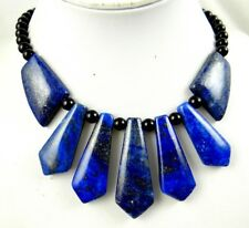 Natural lapis lazuli &agate Handmade Gemstone Jewellery Necklace  AA18