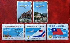 China Taiwan AirMail 1967-1980 SC#C76-7 #81-3  2 Full Sets MNH