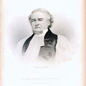 Bishop of Georgia - STEPHEN ELLIOTT Portrait - 1886 engraving