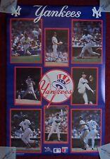 Vintage 1987 Starline New York Yankees Baseball Poster ~ Mattingly, Henderson ++