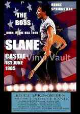 Bruce Springsteen Concert Poster + Ticket Slane Castle Ireland 1985  A3 Repro..