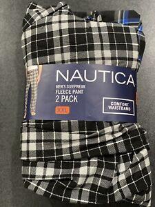 Nautica Men's Sueded Fleece Pajama Pants 2 Pack Size 2XL New!