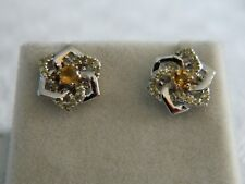 Clogau Silver & 9ct Rose Welsh Gold Eternal Daffodil Stud Earrings RRP £239.00