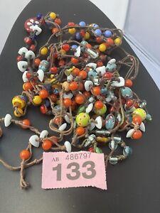 Vintage Designer Job Lot Italian Murano Glass Bead Necklace Jewellery P133