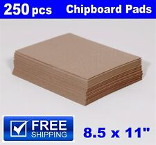 250- 8.5 x 11 Chipboard Pads Cardboard boxes Sheets strengthen envelopes mailers