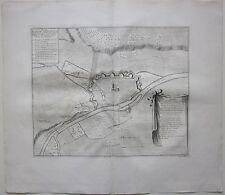 1729 PLAN DE LA VILLAS IMPERIAL ET FORTERESSE de ULM Dumont cobre plato buril