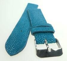 22mm Blue Stingray Skin Leather Watch Strap Handmade  ST2211