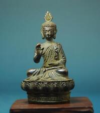 China Tibet Buddhism Old Bronze Sakyamuni Amitabha Buddha Statue B01