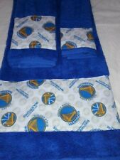 Golden State Warriors 3pc Towel Set Handmade  Great Gift!!!