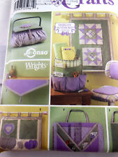Simplicity 5932 Quilting Accessories Organizer Basket Bags Wall Hanging UNCUT FF