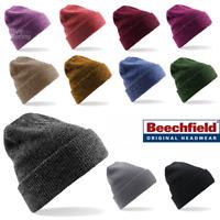Beechfield BEANIE HAT WINTER WARM SOFT KNITTED VINTAGE STYLE SPORTS MEN'S LADIES