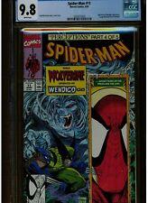 SPIDER-MAN #11 CGC 9.8 MINT WHITE PAGES  TODD MCFARLANE 1991 WOLVERINE WENDIGO
