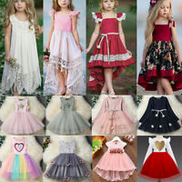 Flower Girl Princess Dress Kids Baby Pageant Party Wedding Gown Short Tutu Dress