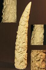 A Art Africain belle grande défense 38cm résine bestiaire des animaux d'Afrique