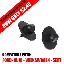 OVAL TWIST N TURN FIXING CLIP SCREW X2 [VW AUDI SEAT FORD]