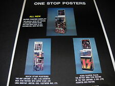 KISS and Fleetwood Mac 1978 ONE STOP POSTERS Promo Display Ad mint condition