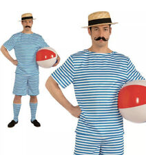 Mens Swim Suit Costume Adults 1920s Fancy Dress Outfit New Wot Pool Beach Clyde