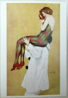 "Postcard - Harlequin: 1916 Reprint by Raphael Kirchner 6"" X 4.25"""