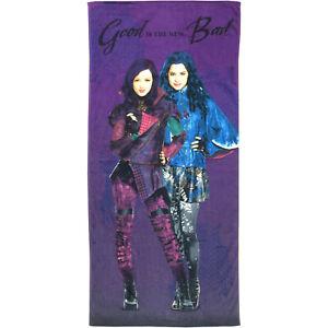 Descendants 28x58 Beach Towel Mal & Evie Good is the new Bad Purple NWT