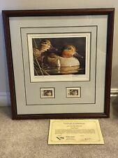 1995 Utah Duck Stamp Print By ROBERT STEINER Limited Edition Signed Framed
