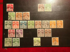 Denmark, postage stamps, used
