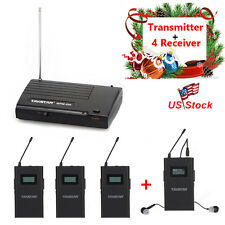 Takstar WPM-200 UHF Wireless Monitor System In-Ear Stereo Transmitter&4 Receiver