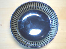 "Home ZANZIBAR ANIMAL PRINT 9 3/4"" Round Serving Bowl Black Brown Striped"