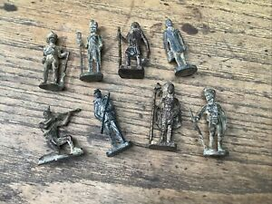 Kinder lot 8 figurines métal en l'état Inca Sudiste Indien Geronimo