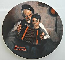 "Norman Rockwell 1981 ""The Music Maker"" #P3041 Knowles Heritage Collection 8 1/2"""