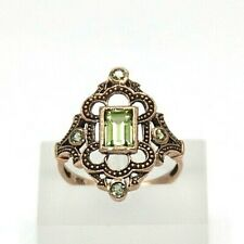 Peridot Ring Peridot Yellow Gold Ø 0 5/8in Antique Style