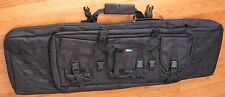 "Deluxe 42"" Doublel Paddled Rifle Bag,  Fit 2 Rifle & with Many Pockets, Pouches"