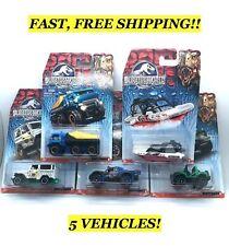 5 Vehicle Lot! Matchbox Jurassic World Action Vehicles, Toys, Cars New Free Ship