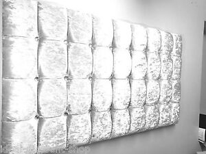 """extra cubed silver Velvet Headboard Great Style 24"""" 32"""" 36"""" all Colours & Sizes"""