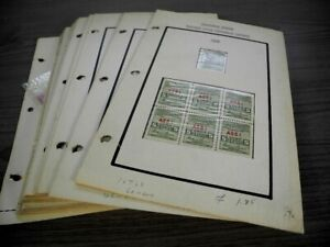 US, Excellent assortment of Telegraph Revenue Stamps hinged on pages